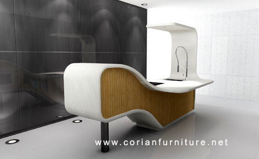 Incroyable HT 016 Corian Designed Workstation_corianfurniture Yiyang Furniture  Limited,bar And Reataurant,bathroom Products,commercial,designed  Partition,hotel ...
